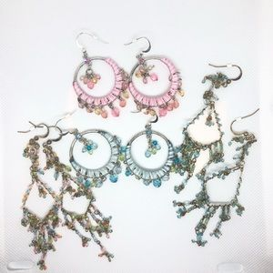 Earring Lot!   4 pair beaded earrings